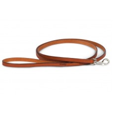 Поводок кожаный со стальным карабином № 12