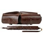 Патронташ универс со съемными подсумками 16-20 к (кожа)